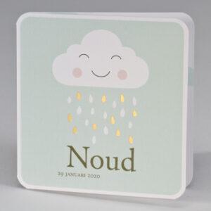 Geboortekaartje wolk