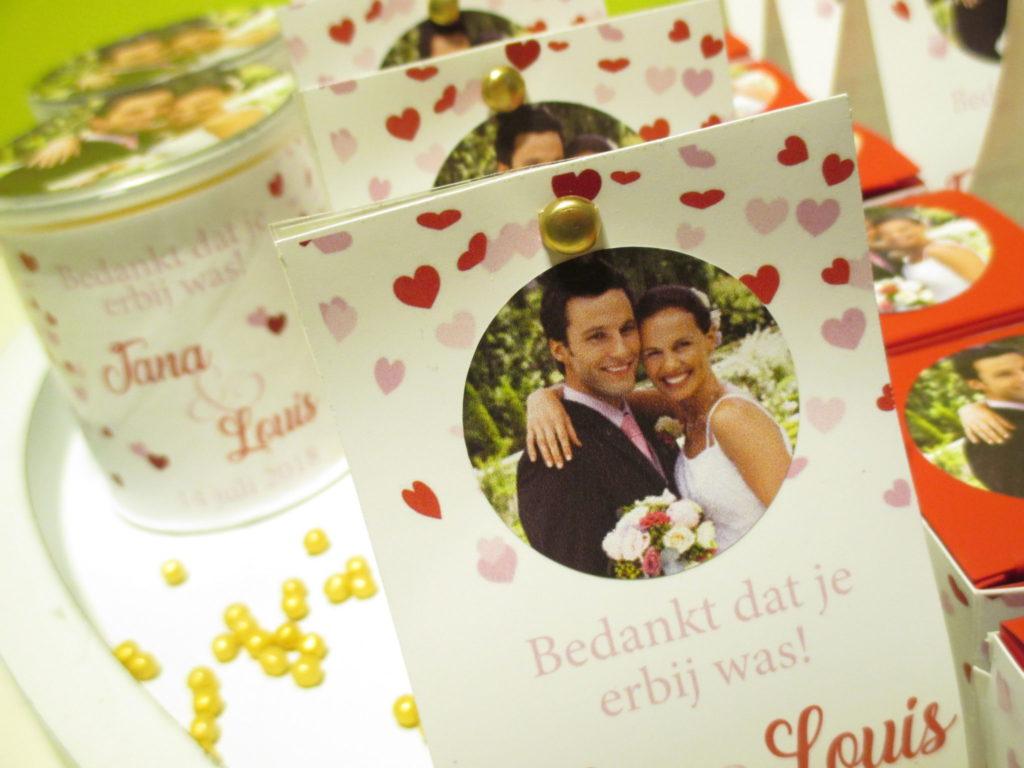 voorbeelden huwelijksbedankjes
