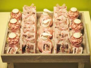 communiebedankjes roze met bloempjes